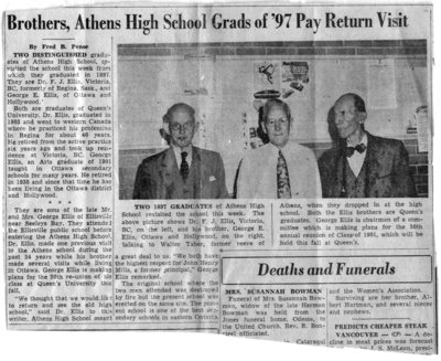 Brothers, Athens High School Grads of [18]97 Pay Return Visit