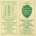 Train Schedule, Canadian Pacific Railway