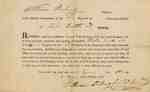 Military Warrant for Elisha Smith, 33rd Regiment of the Connecticut Militia- 1811