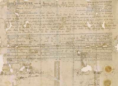 Land Indenture Between Edward Hunt and Robert Hamilton- March 1803
