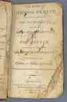 The Book of Common Prayer and Administration of the Sacraments, and other Rites and Ceremonies, of the Church- 1810