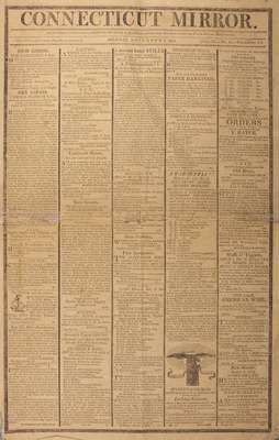 The Connecticut Mirror Newspaper- November 2,1812