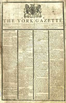 York Gazette Newspaper- October 17, 1812