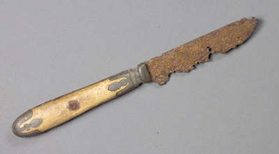 Knife Unearthed at Niagara Battlefield