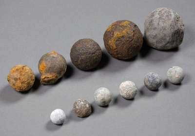 Small Cannon Shot and Musket Balls- c. 1812