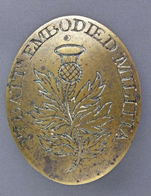 Cross Belt Plate of the 1st Battalion of the Canadian Embodied Militia