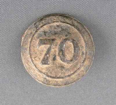 70th Surry Regiment of Foot Button- c.1812