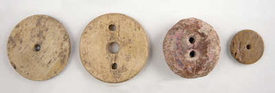 Buttons Made of Bone- c.1776-1812