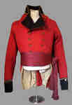 Upper Canadian British Militia Officer's Coatee and Red Sash
