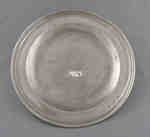 Pewter Plate, 1810 home of Jacob Miller