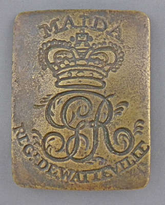 Regiment De Watteville Cross Belt Plate