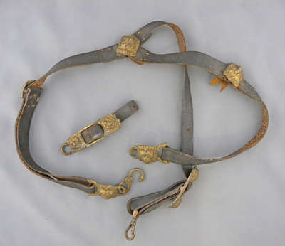 Black Leather Sword Belt c. 1812-1814