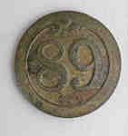 89th Regiment of Foot, the Royal Irish Fusiliers Button c.1812-1815