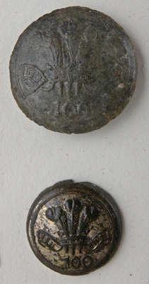 100th Regiment of Foot, Prince Regent of Dublin County Uniform Button c.1805-1818