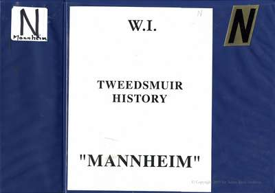 New Dundee Tweedsmuir History Book N