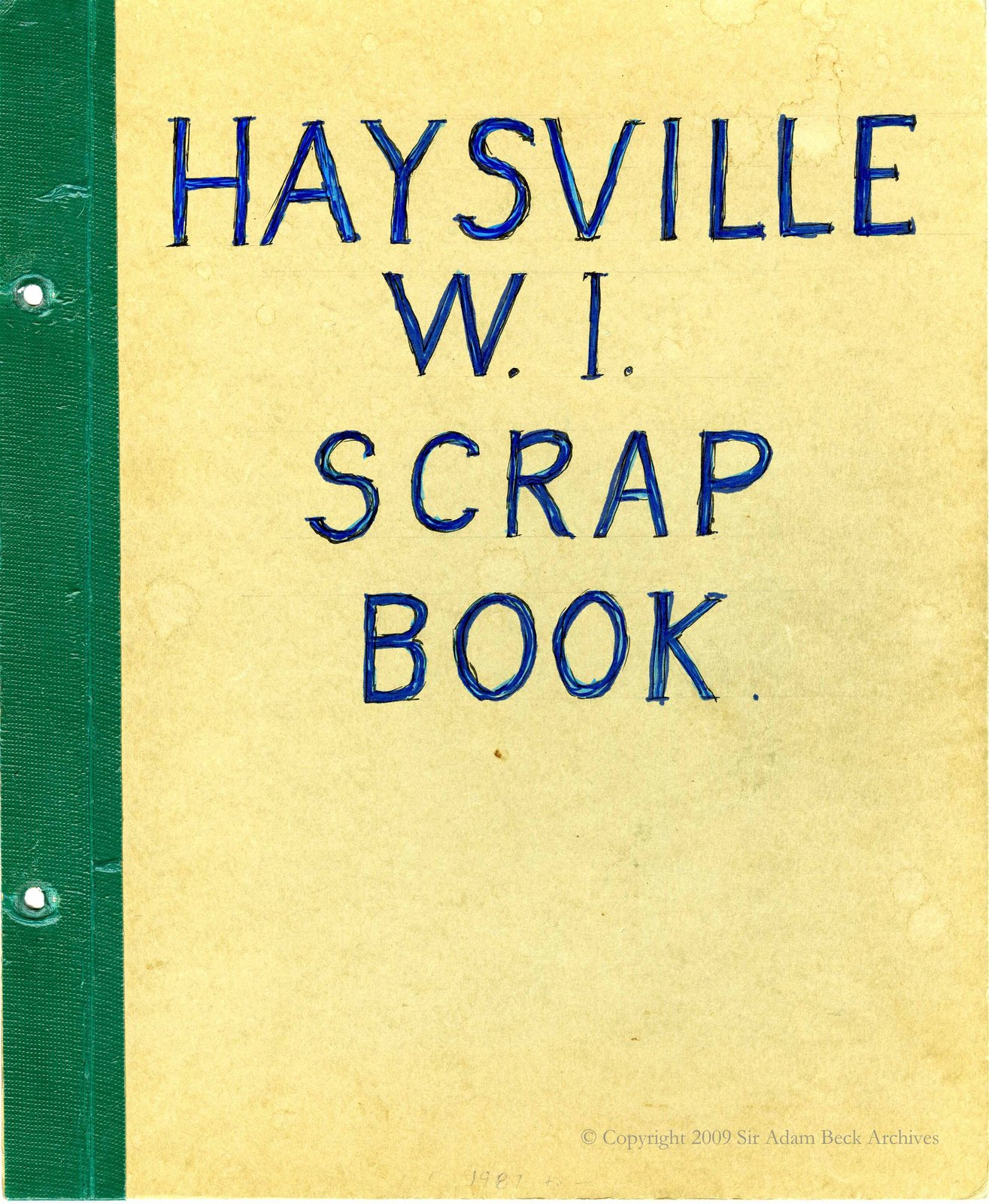 Haysville Tweedsmuir History Book B