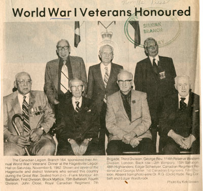 World War I Veteran Honoured