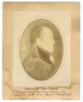 Sir Isaac Brock- Photograph of Watercolour Painting