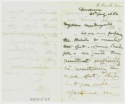 Letter to Colonel MacDougall from Allan McNab concerning Sir Isaac Brock's Death- 1860