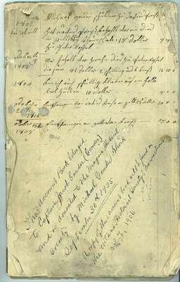 Captain Jacob Gander (Gonder)Ledger Book- 1802-1837
