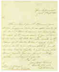 Letter to Lieut. Daniel McDougal Authorizing a Meeting of the Medical Board to Examine and Report on Wounds Sustained During War of 1812