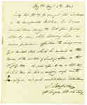 Affidavit from J. Sampson, surgeon of the late 104th Regiment, Regarding Wounds received by Daniel McDougal at the Battle of Lundy's Lane- 1821
