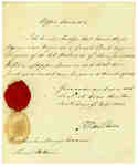 Affidavit that Grant Powell was a surgeon and James [Benly] was a Major in the Incorporated Militia of Upper Canada- 1820
