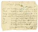 Bill of Account from Ezekiel Cudney to Mrs. Mathews- 1811