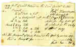 Bill of Account: Wood Delivered to Butler's Barracks by Robert Thompson, 1817