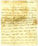 Letter to Lieut. Tom Leonard from M.L.- December 1814