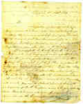 Letter to Lieut. Leonard of the 104th Regiment at Fort George from Capt. Geof [Shaw] in Chippawa- September 12th, 1814