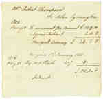 Bill of Account from Mr. Robert Thompson to John Symington- 1815