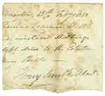 Receipt to Thomas Leonard from Henry Smith Regarding the Administration for the [Ball] Estate- 1813