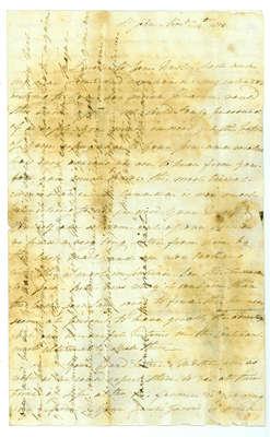 Letter to Lieut. Thomas Leonard in Kingston, Ontario from F. Leonard in St. Johns, New Brunswick- 1813