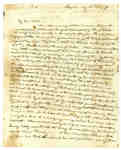 Letter to Elizabeth Leonard in St. John, New Brunswick from Frances Leonard- 1814