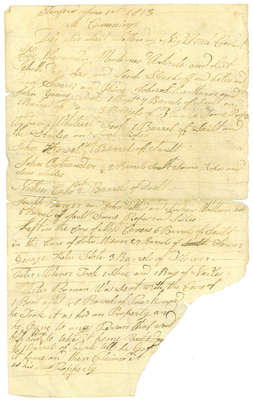 Letter to Mr. Cummings, a general merchant in Chippawa during the War of 1812, Explaining a Theft of Various Supplies- 1813