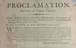 Proclamation, Upper Canada by Sir Isaac Brock- 1812