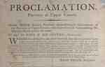 Proclamation, Upper Canada by Sir Isaac Brock- 1812