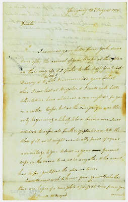 Letter from Alex MacDonnell to Lieutenant Donald McDougal- August 1814