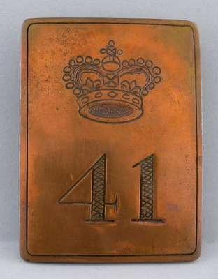 Cross Belt Plate- 41st Regiment of Foot