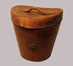 Brown Leather Hatbox