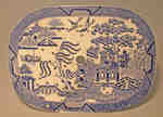 Davenport Willow Pattern Platter- c. 1800
