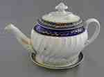 Coalport Blue and Gold Porcelain Teapot- c. 1800-1810