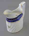 Coalport Blue and Gold Porcelain Cream Pitcher- c. 1800-1810
