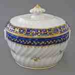 Coalport Blue and Gold Porcelain Sugar Bowl- c. 1800-1810