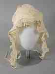White Ruffled Bonnet- c. 1810-15