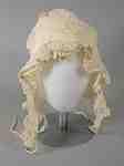 White Ruffled Bonnet- c. 1810-15