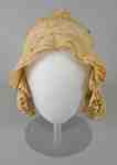 Cotton Ruffled Day Bonnet- c.1810-1820