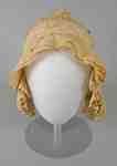 Cotton Ruffled Day Bonnet- c.1810-1820