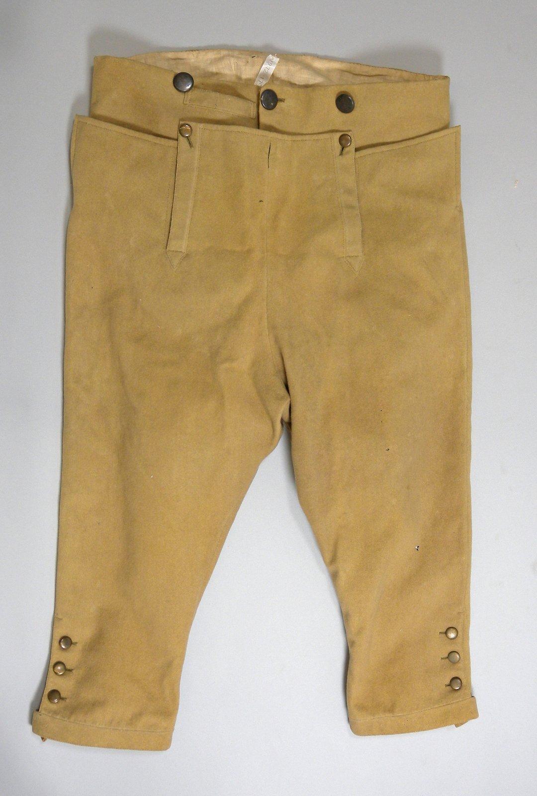 breeches belonging to george ball c 1800 1812 history